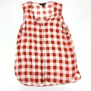 Banana Republic gingham tank top tunic